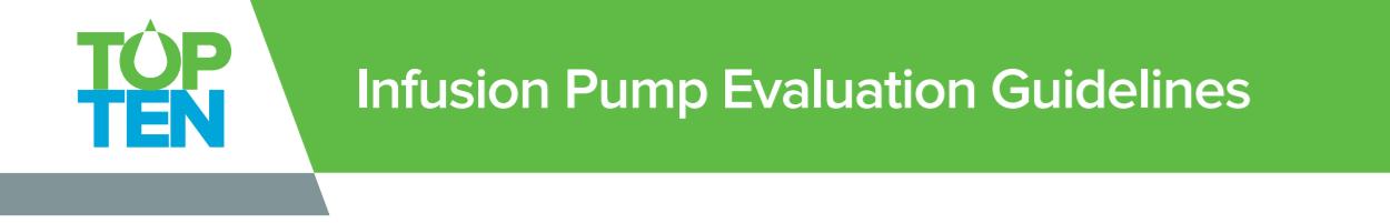 Infusion Pump Evaluation Guidelines Ivenix
