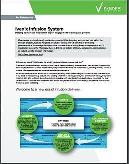Ivenix Infusion System for Pharmacists Product Brief